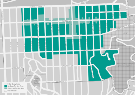 Inner Sunset Green Benefit District Map