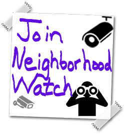 Neighborhood Watch Post-it